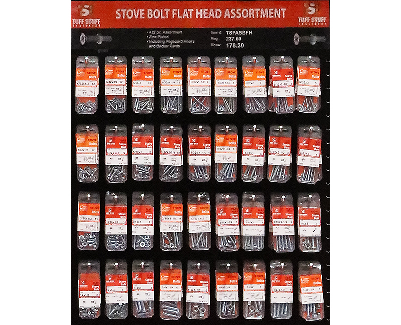 Fastener Assortment - Stove Bolt Flat Head