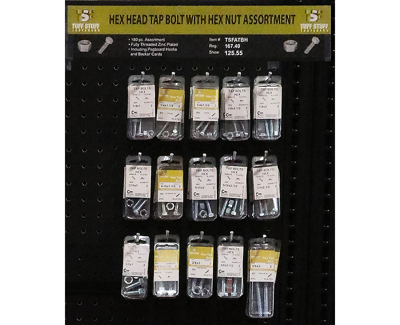 Fastener Assortment - Tap Bolt Hex Head