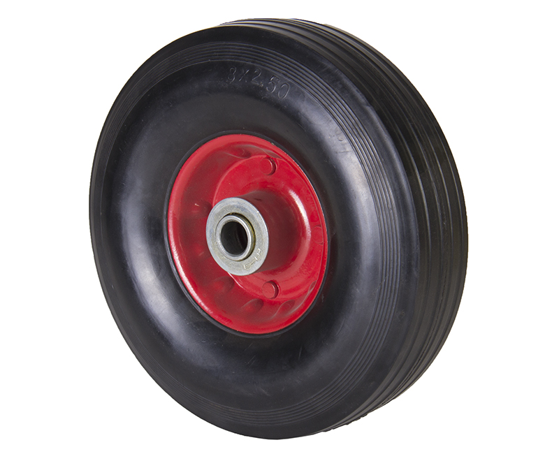 "8"" Solid Rubber Wheels"
