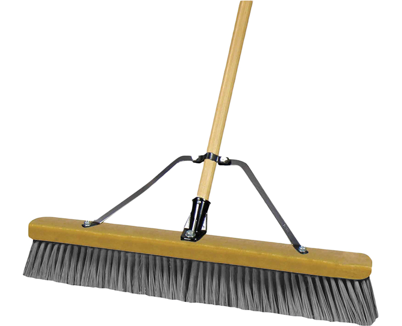 "60"" Wood Handle Push Broom - Grey"