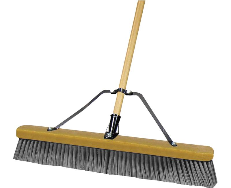 """60"""" Wood Handle Push Broom - Grey"""