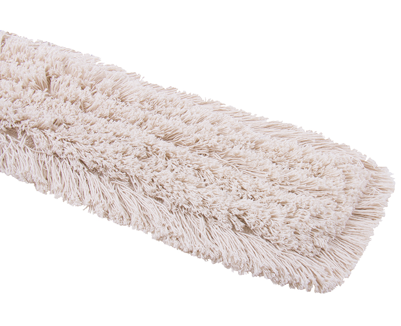 """5"""" x 24"""" Dust Mop Head Fringed Cotton Polybag"""