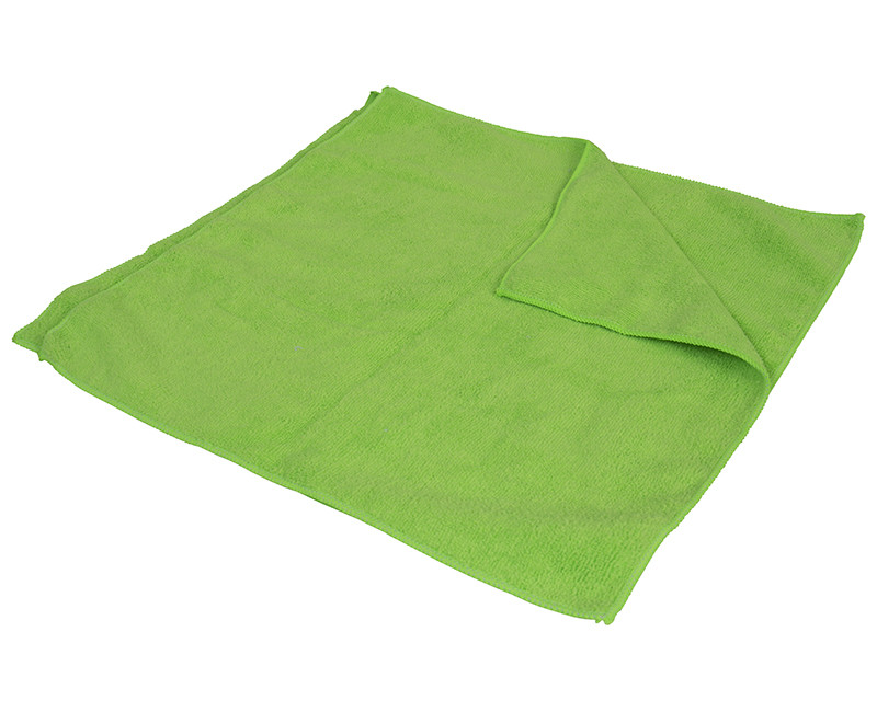 """16"""" x 16"""" Neon Green Microfiber Cleaning Cloths - 2 Pack"""