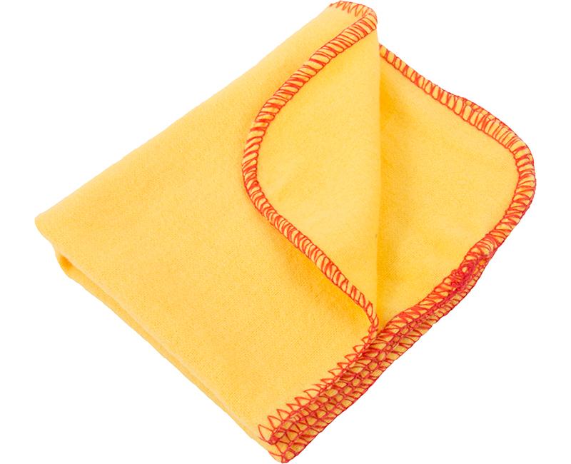 "11.5"" x 13.5"" Yellow Synthetic Polish Cloth Polybag - 5 Pack"