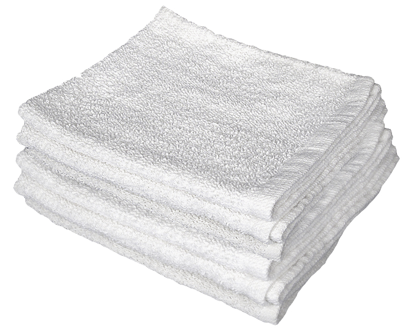 """14"""" x 17"""" White Terry Cloth Towels 100% Cotton Polybag - 3 Pack"""