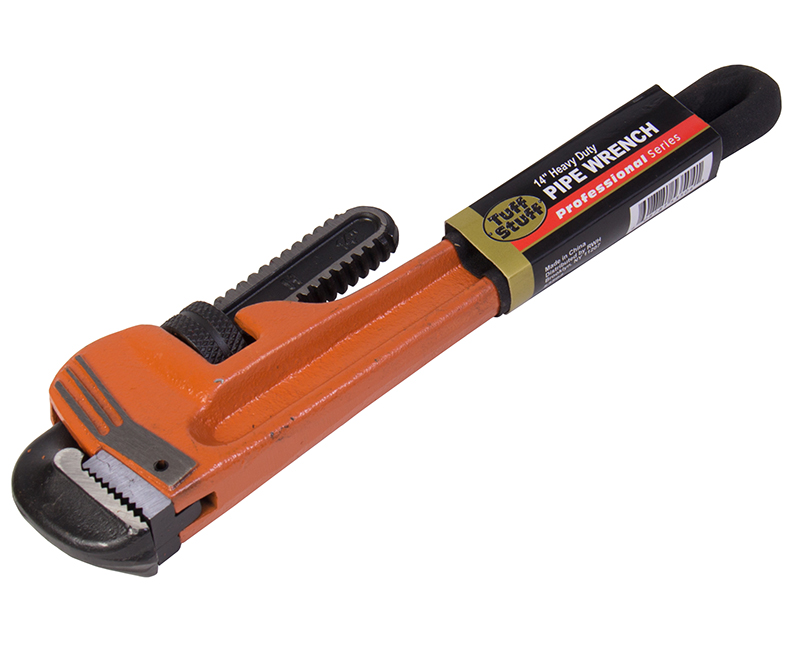 "14"" Heavy Duty Black Grip Pipe Wrench"