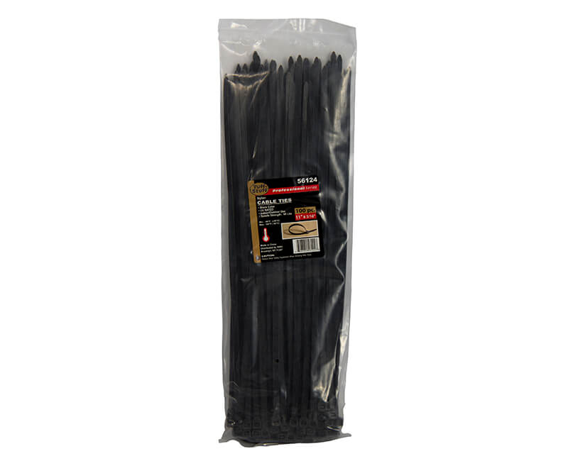 "11"" Black Nylon Cable Ties"