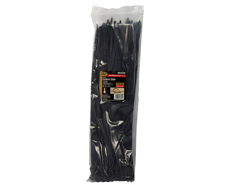 "14"" Black Nylon Cable Ties"