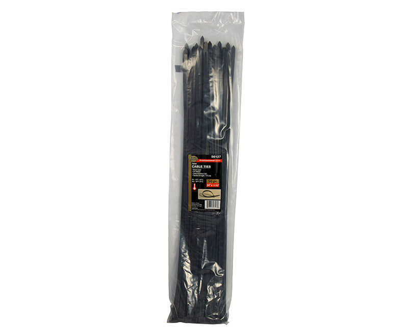 "24"" Black Nylon Cable Ties"