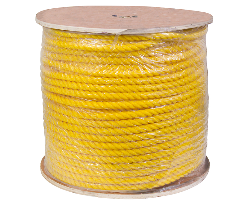 "3/4"" X 600' Yellow Poly Rope on Reel"