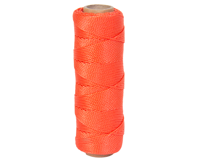 #18 X 275' Twisted Nylon Mason Line - Neon Orange