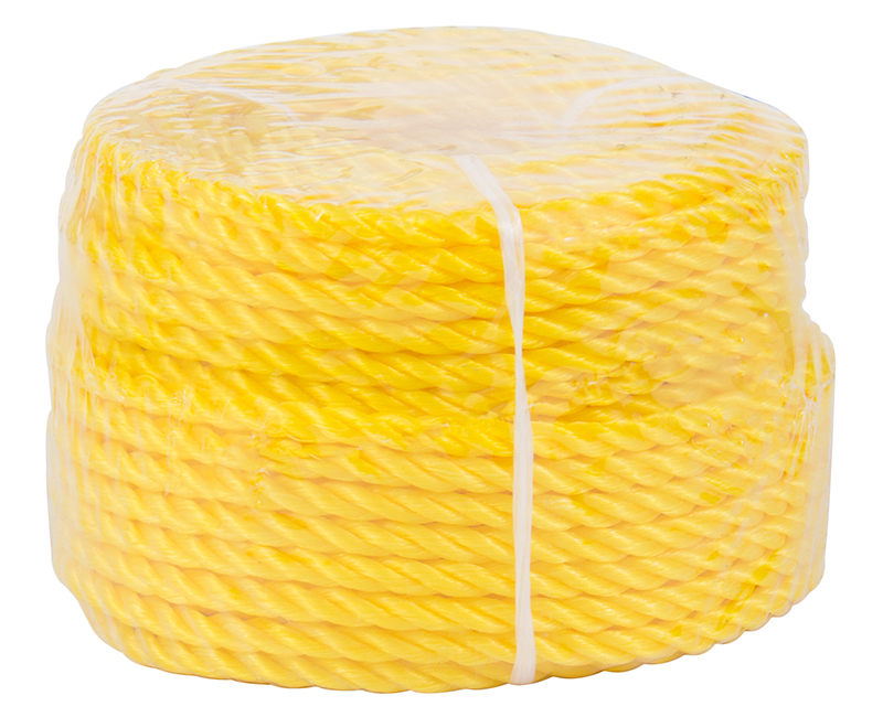 "1/4"" X 100' Yellow Poly Rope"