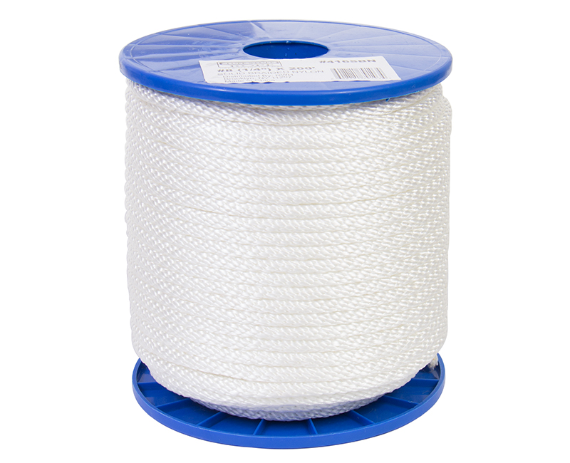 #8 X 200' Solid Braided Nylon Rope On Reel
