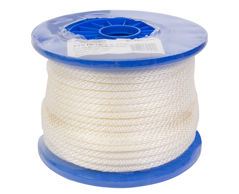 #10 X 175' Solid Braided Nylon Rope On Reel