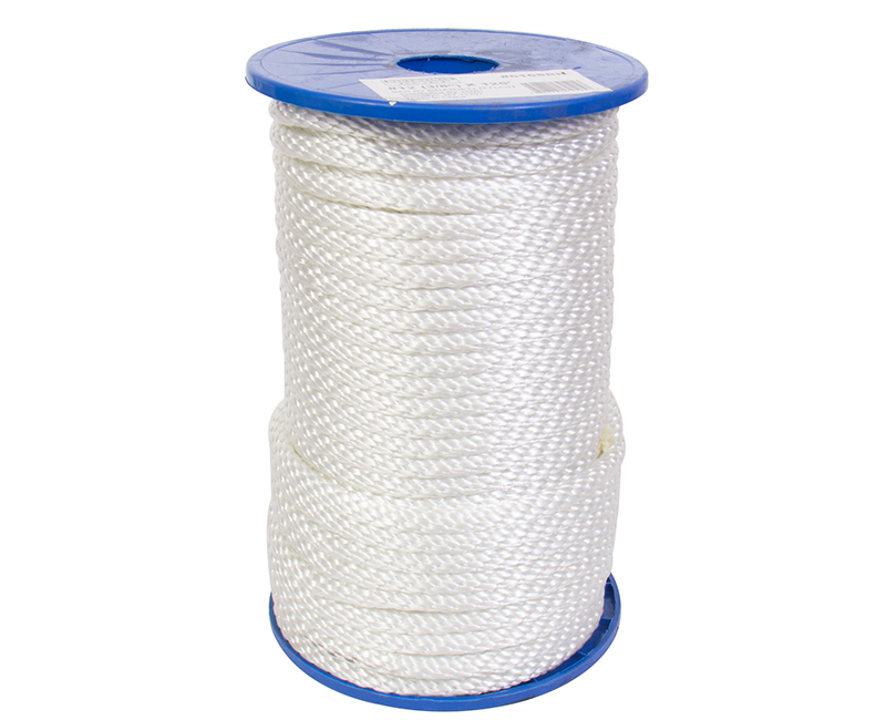 #12 X 125' Solid Braided Nylon Rope On Reel