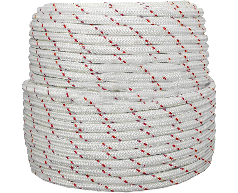 "3/4"" X 600' NYLON COMBO ROPE WITH RED TRACER"