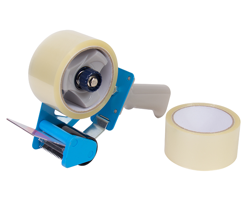 Tape Dispenser With 1 Roll of Clear Tape