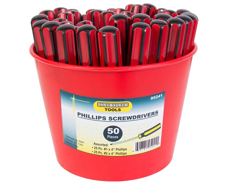 50 PC. Phillips Screwdriver Bucket