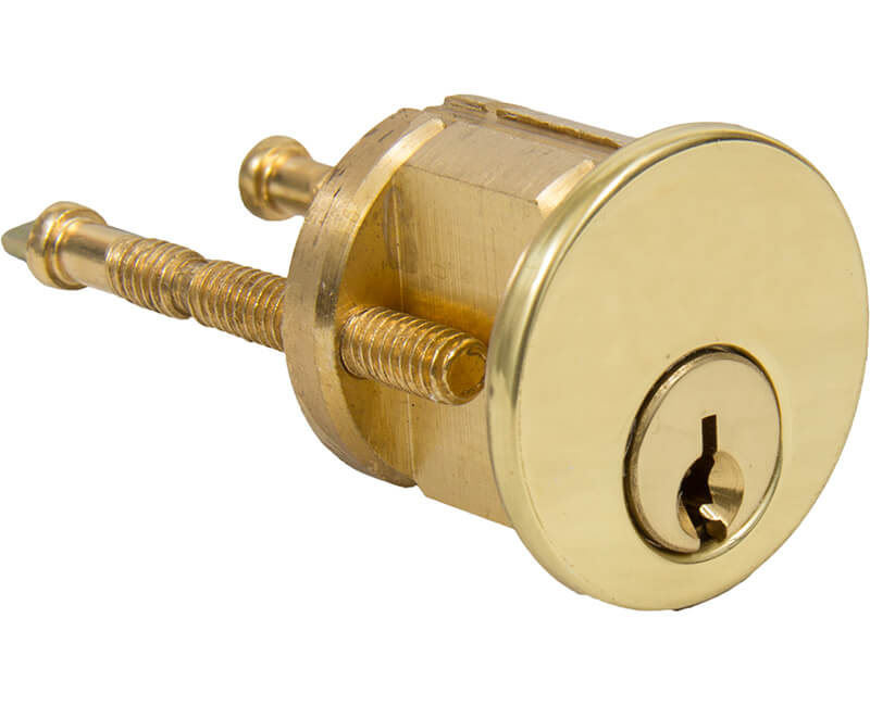 Solid Brass Rim Cylinder - Carded