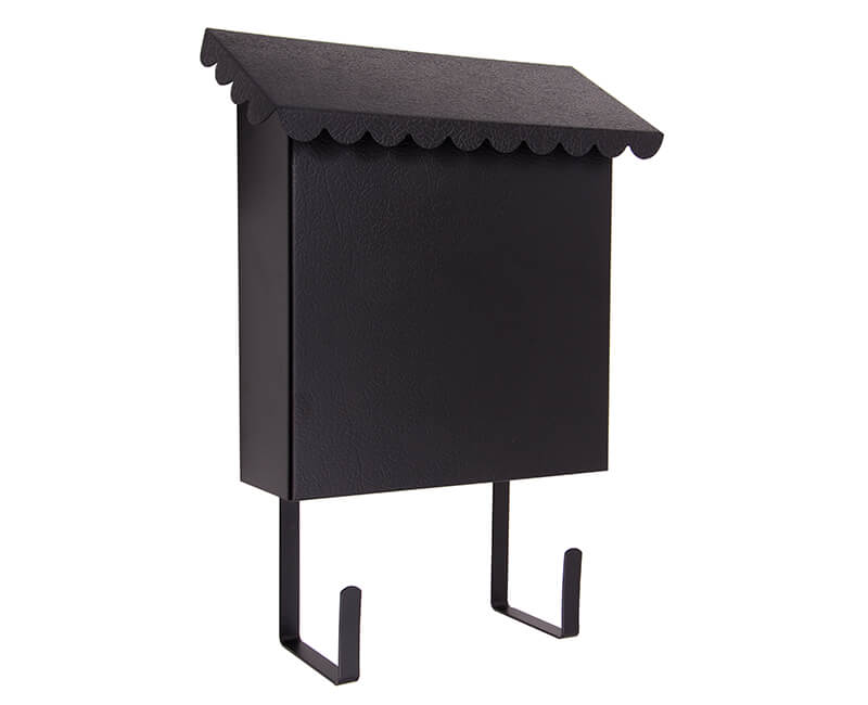 "8-1/2"" X 10"" X 3"" Vertical Mailbox - Black Enamel Finish"