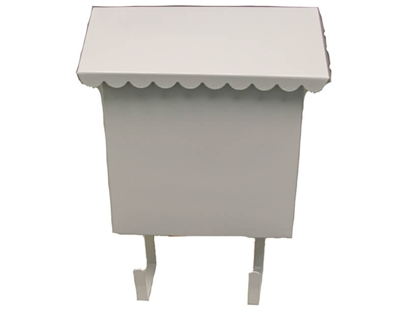 "8-1/2"" X 10"" X 3"" Vertical Mailbox - White Enamel Finish"