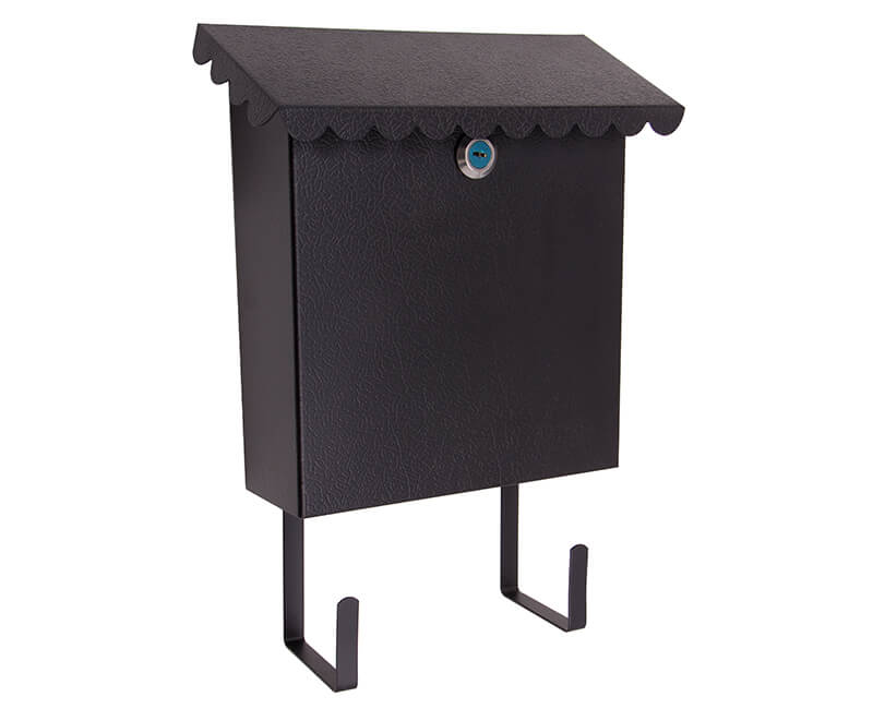 "8-1/2"" X 10"" X 3"" Vertical Mailbox With Lock - Black Enamel Finish"