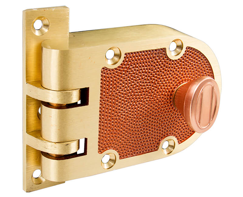 Single Cylinder Jimmyproof Deadlock - Solid Bronze Carded