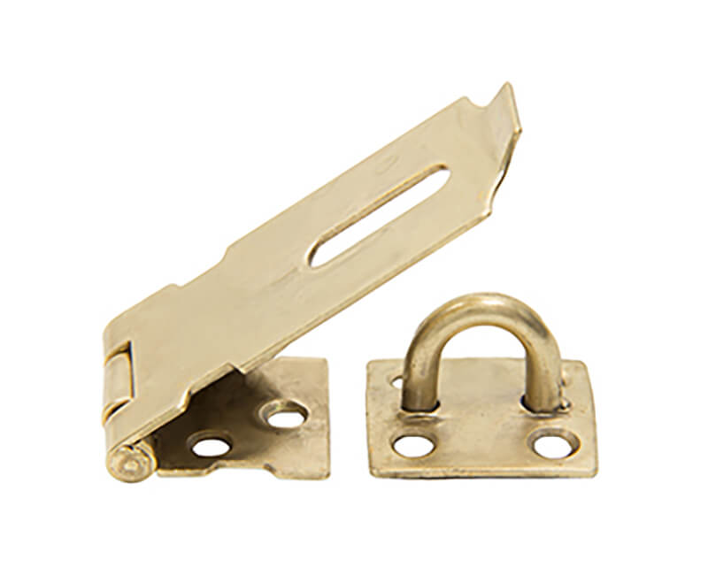 """2"""" Safety Hasp - Brass Plated"""