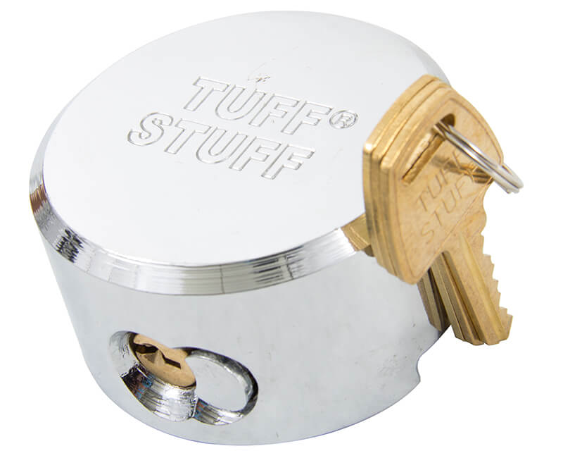 Round Shackless Steel Padlock - KA#534332 Boxed