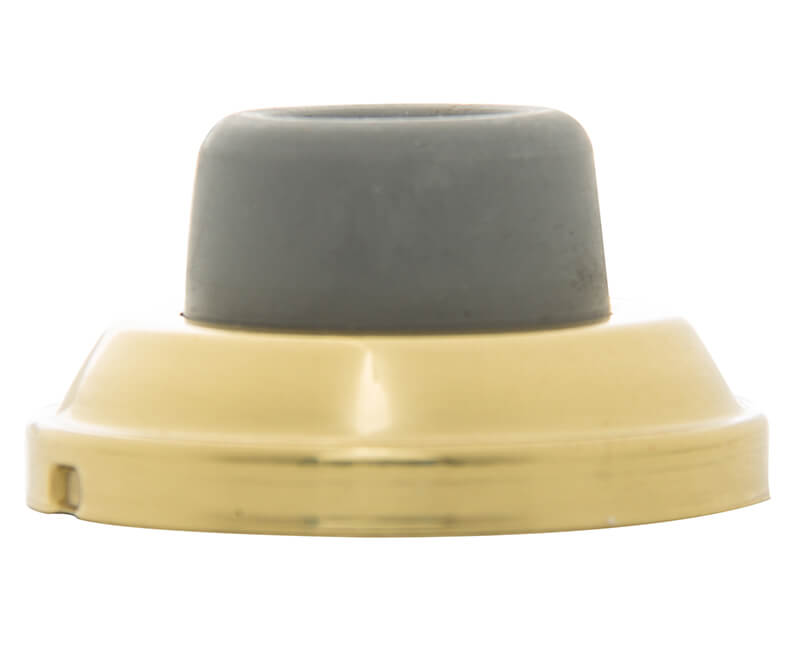 Concave Wall Door Stop - Brass Plated