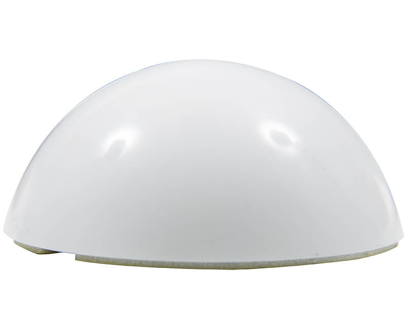 "2-1/2"" Stick-On Dome Door Bumper - White"