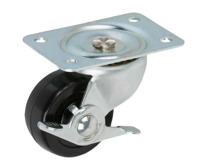 "2-1/2"" Swivel Plate Caster With Brake"