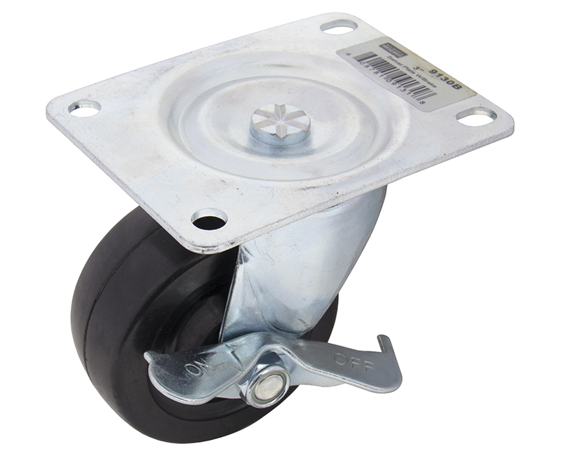 "3"" Swivel Plate Caster With Brake"