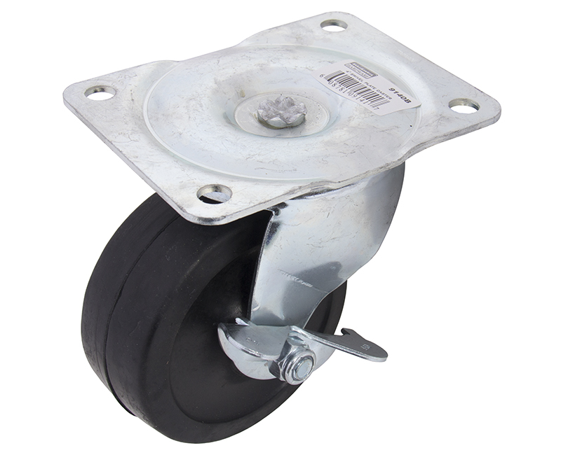 "4"" Swivel Plate Caster With Brake"