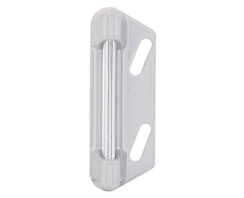 Replacement Strike Plate With Screws - Aluminum Finish
