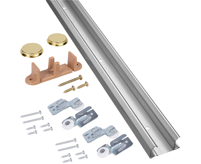 4' Sliding Door Track Kit - Up to 60lbs.
