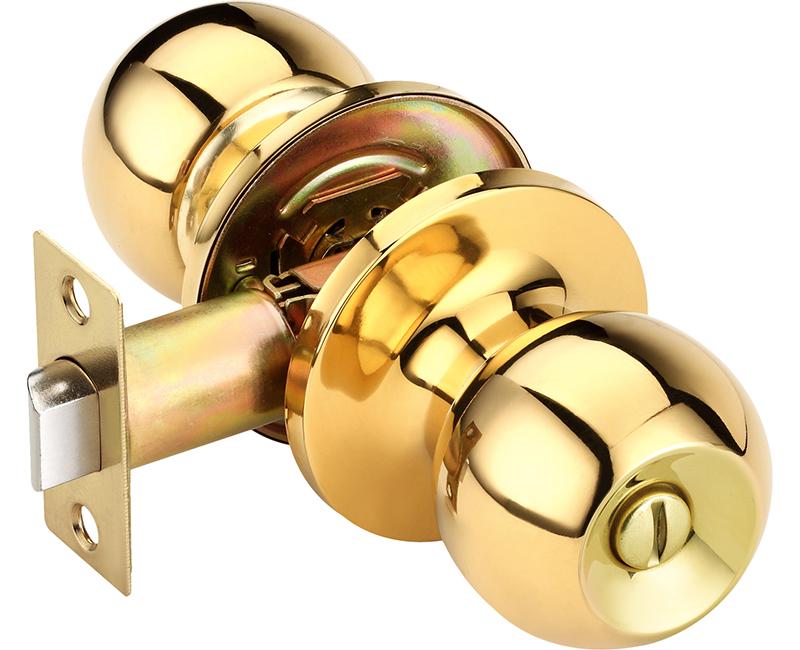 Builder's Grade Ball Style Lockset Privacy Adj. Backset Carded - US3