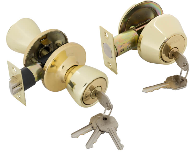 Key-In-Knob and Single Cylinder Combo Set - US3