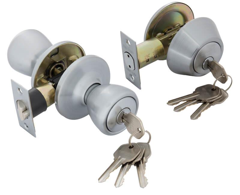 Key-In-Knob and Single Cylinder KA3 Combo Set - 26D