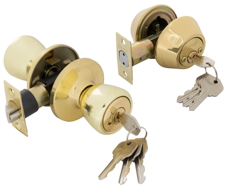 Key-In-Knob and Double Cylinder Combo Set