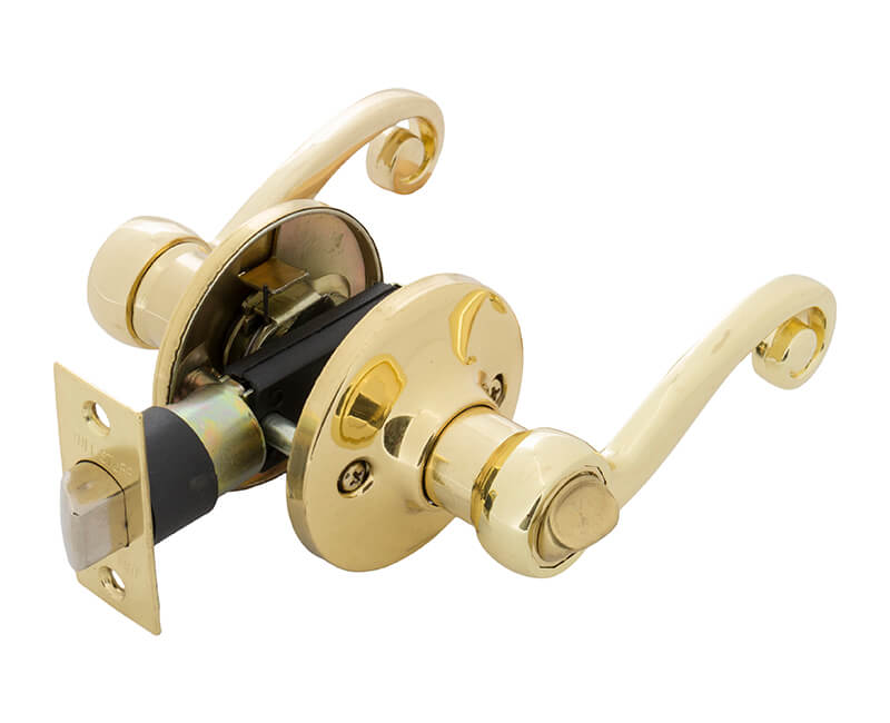 Lever Handle Privacy Lockset - US3