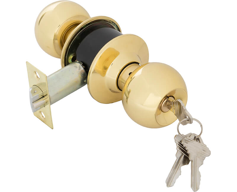 Cylindrical Vestibule Lockset - US3 Carded