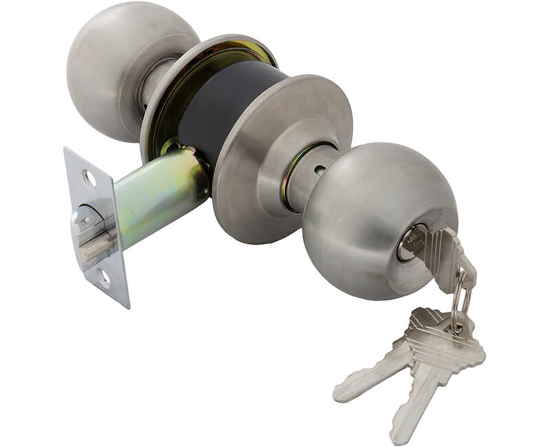 Cylindrical Vestibule Lockset - 26D Carded