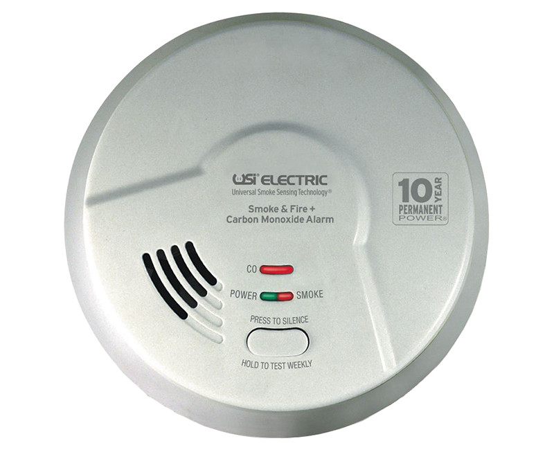 3-IN-1 HARDWIRED SMOKE,FIRE & CARBON MONOXIDE SMART ALARM W/10YR. TAMPERPROOF BATTERY
