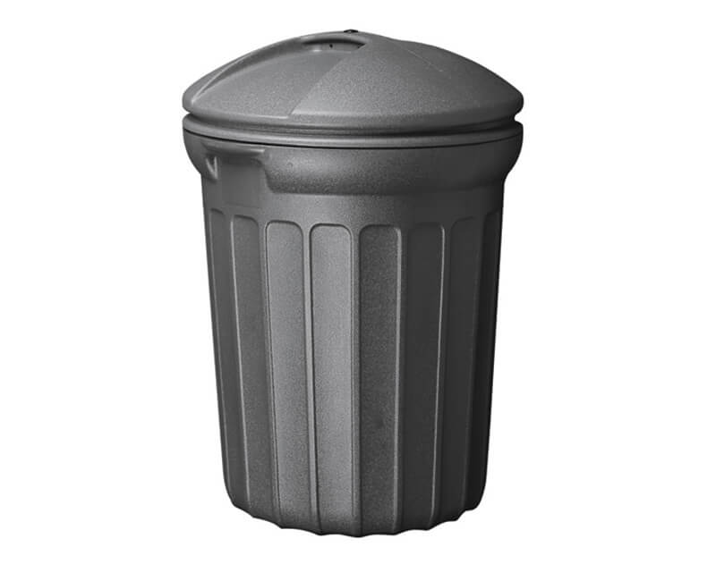32 GAL. Round Plastic Trash Can With Lid