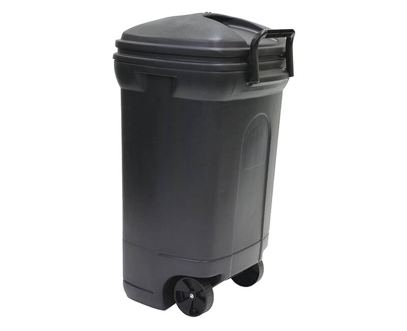 45 GAL. Rectangular Wheeled Plastic Trash Can With Lid
