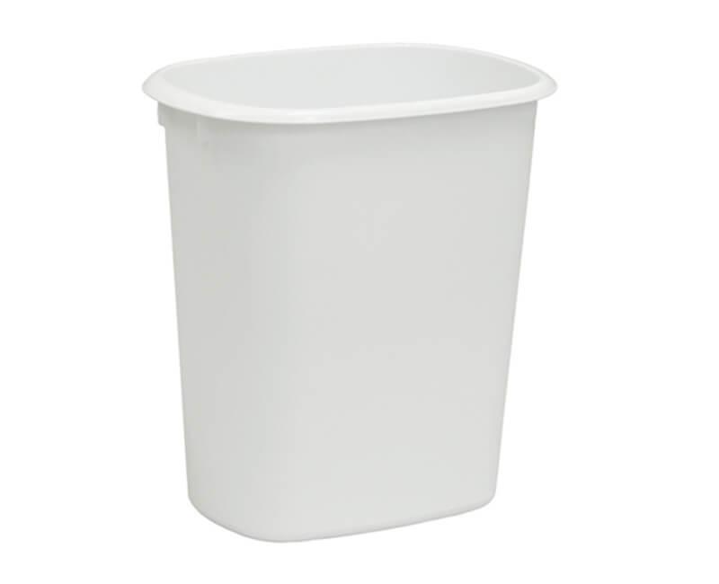 10 QT. White Wastebasket