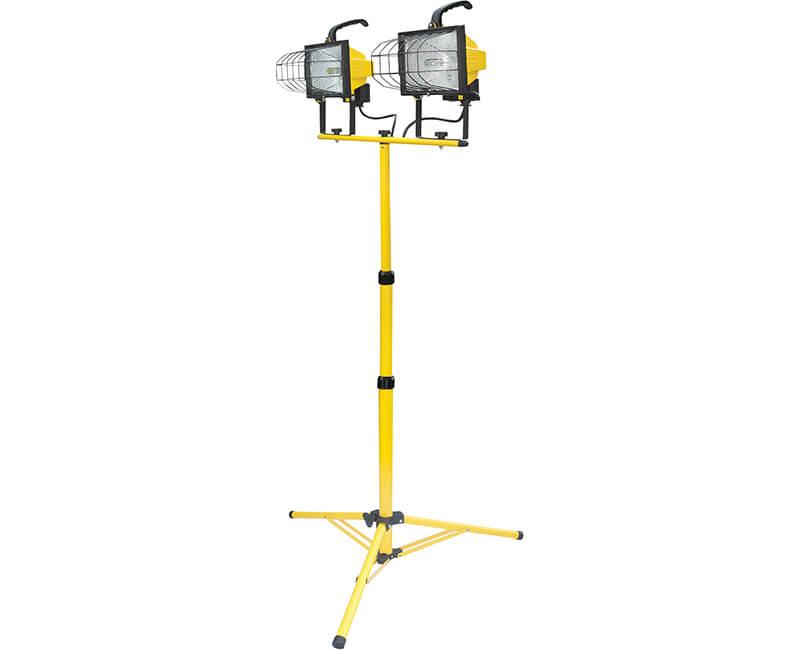 1000 Watt Twin Halogen Worklight With Tripod