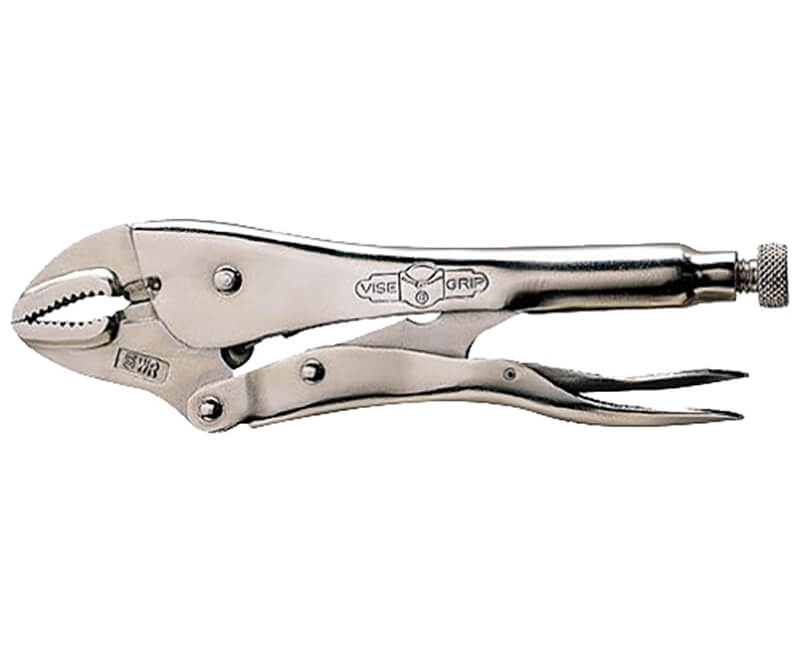 "4"" Curved Jaw Locking Plier With Cutter"