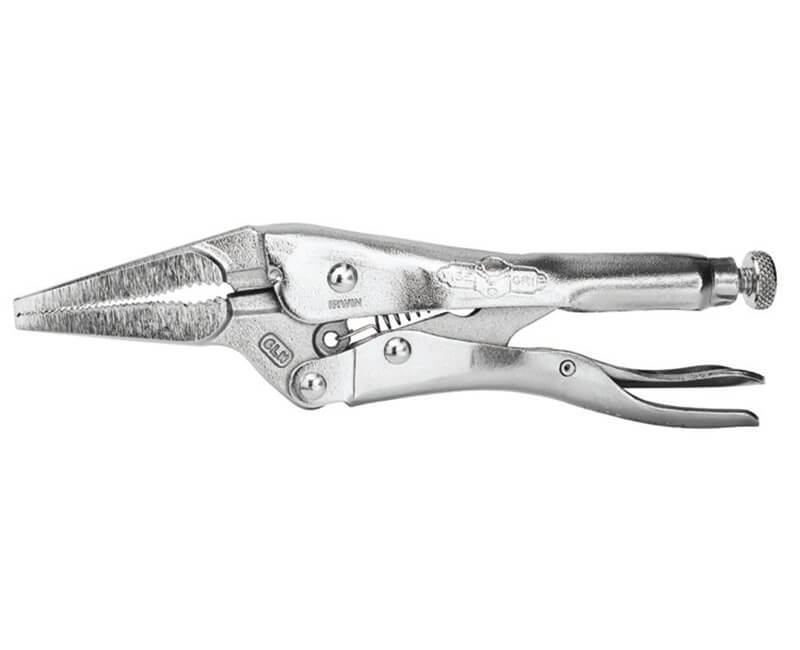 "6"" Long Nose Locking Pliers With Cutter"